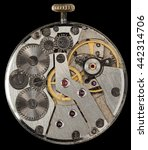clockwork vintage mechanical... | Shutterstock . vector #442314706
