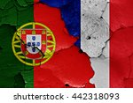 flags of portugal and france...   Shutterstock . vector #442318093
