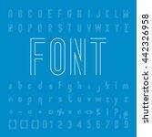 line font family design and... | Shutterstock .eps vector #442326958