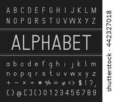 alphabet vector font design | Shutterstock .eps vector #442327018