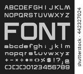 bold alphabet vector font  type ... | Shutterstock .eps vector #442327024