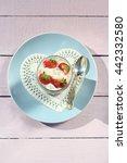 fresh strawberries with fruit... | Shutterstock . vector #442332580