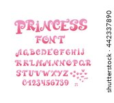 Font For Girl With Numbers An...