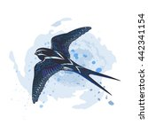 vector sky blue swallow... | Shutterstock .eps vector #442341154
