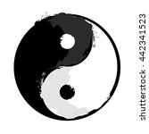 yin and yang  grunge style. | Shutterstock .eps vector #442341523