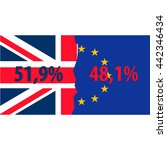 brexit. separated flags of... | Shutterstock .eps vector #442346434