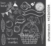 farmer's market. vector... | Shutterstock .eps vector #442365334