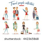 collection travel people... | Shutterstock .eps vector #442365868