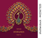 wedding invitation or card with ... | Shutterstock .eps vector #442367320