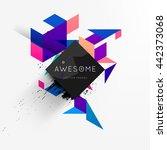 geometric vector background.... | Shutterstock .eps vector #442373068