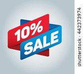 10  sale arrow tag sign icon.... | Shutterstock .eps vector #442373974