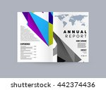 geometric cover background ... | Shutterstock .eps vector #442374436
