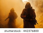 nuclear post apocalypse... | Shutterstock . vector #442376800