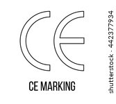 ce marking icon or logo line... | Shutterstock .eps vector #442377934
