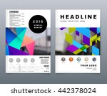 geometric cover background ... | Shutterstock .eps vector #442378024