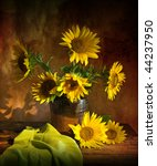 Still Life With Sunflowers In...