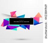 geometric vector background.... | Shutterstock .eps vector #442384969