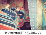 childrens in amusement park.... | Shutterstock . vector #442386778