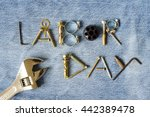 labor day background concept | Shutterstock . vector #442389478