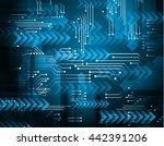 digital data background  blue... | Shutterstock .eps vector #442391206