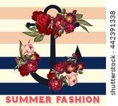 fashion summer background... | Shutterstock .eps vector #442391338