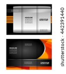 brochure design template... | Shutterstock .eps vector #442391440