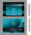 brochure design template vector ... | Shutterstock .eps vector #442400833