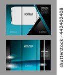 vector empty tri fold brochure... | Shutterstock .eps vector #442402408