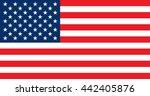 us flag. flag of the united... | Shutterstock .eps vector #442405876
