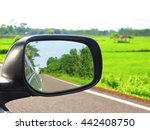 the rear mirror of a car | Shutterstock . vector #442408750