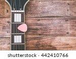 pink pick   electric guitar... | Shutterstock . vector #442410766