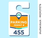 paid business parking permit   Shutterstock .eps vector #442419376