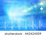 medical abstract background ... | Shutterstock . vector #442424509