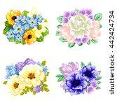 flower set | Shutterstock .eps vector #442424734