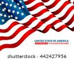 united state of america flag... | Shutterstock .eps vector #442427956