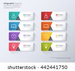 modern minimal arrow elements... | Shutterstock .eps vector #442441750