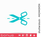 scissors with cut lines icon | Shutterstock .eps vector #442443454