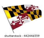 3d illustration of maryland... | Shutterstock . vector #442446559