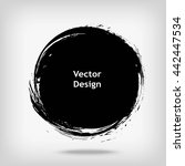 hand drawn circle shape. label  ... | Shutterstock .eps vector #442447534