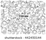 circus design colorless set... | Shutterstock . vector #442450144