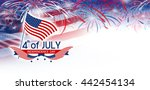 4 july independence day | Shutterstock . vector #442454134