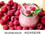 Постер, плакат: Beautiful appetizer pink raspberries