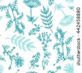beautiful hand drawn seamless...   Shutterstock .eps vector #442458880