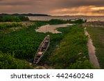 fisherman boat in lake thailand | Shutterstock . vector #442460248