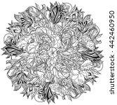 luxury flowers bouquet in shape ...   Shutterstock .eps vector #442460950