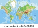 highly detailed physical world... | Shutterstock .eps vector #442470439
