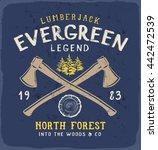 evergreen legend print for t... | Shutterstock .eps vector #442472539