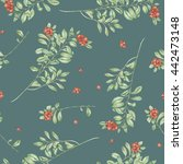 seamless floral pattern with...   Shutterstock . vector #442473148