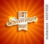 vector design of summer holiday ... | Shutterstock .eps vector #442473520
