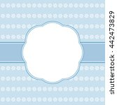 blue vector card template....   Shutterstock .eps vector #442473829